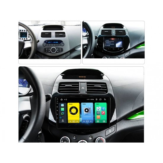 """CHEVROLET SPARK - 9"""" МУЛТИМЕДИЯ / Навигация Android 10"""