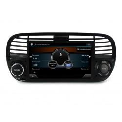FIAT 500 - МУЛТИМЕДИЯ / Навигация Android 11 черна + DSP + CarPlay