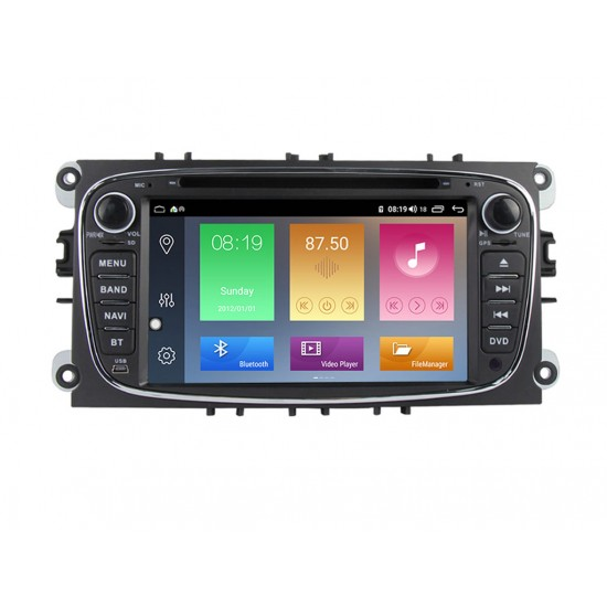 FORD Mondeo, Focus, S-Max, C-Max, Galaxy - МУЛТИМЕДИЯ / Навигация Android 10 DVD черна + DSP