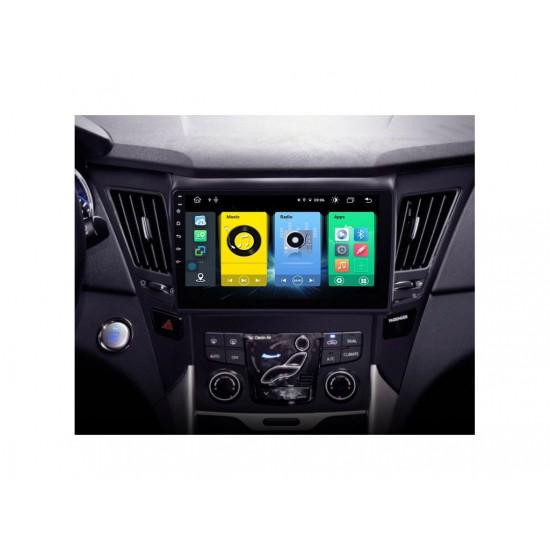 """HYUNDAI SONATA - 9"""" МУЛТИМЕДИЯ / Навигация Android 10 черен лак"""