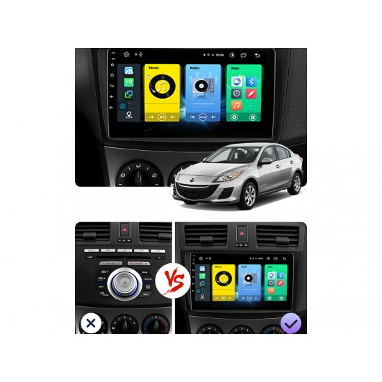 """MAZDA 3 - 9"""" МУЛТИМЕДИЯ / Навигация Android 10"""