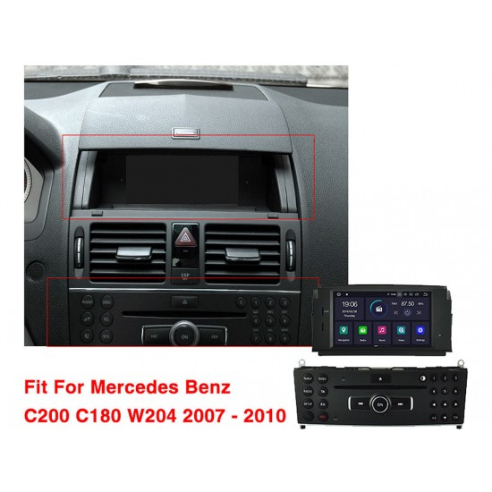 MERCEDES C-Class W204 - МУЛТИМЕДИЯ / Навигация Android 9.0 DVD