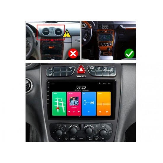 """MERCEDES C-Class W203, CLK W209, G-Class W463 - 9"""" МУЛТИМЕДИЯ / Навигация Android 10"""