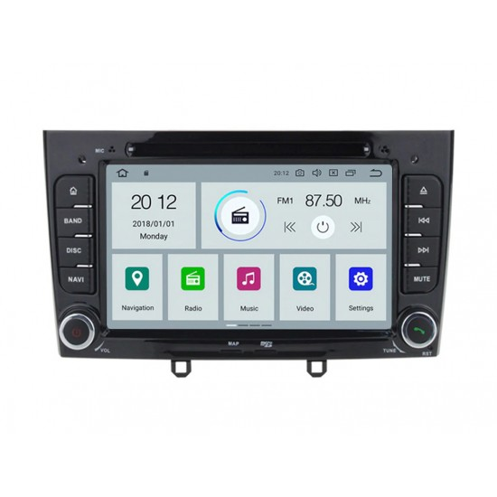PEUGEOT 308, 408 - МУЛТИМЕДИЯ / Навигация Android 10 DVD черна