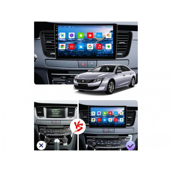 """PEUGEOT 508 - 9"""" МУЛТИМЕДИЯ / Навигация Android 10"""