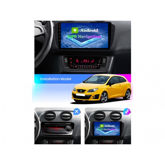"""SEAT Ibiza 6J - 9"""" МУЛТИМЕДИЯ / Навигация Android 10"""