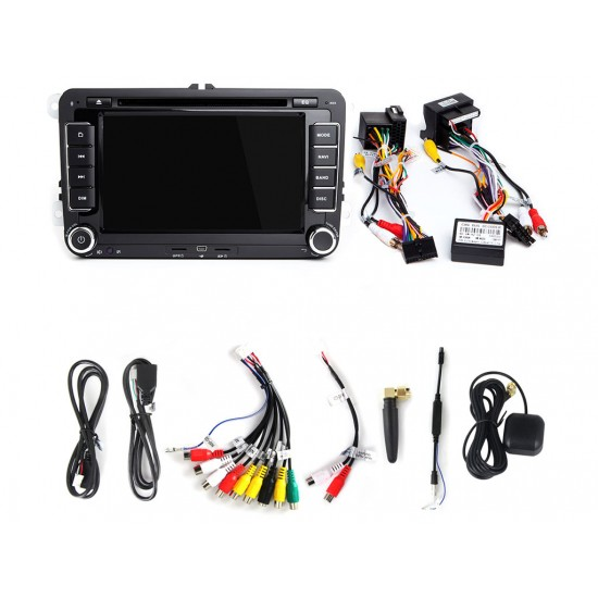 """VW - 7"""" МУЛТИМЕДИЯ / Навигация Android 11 DVD + DSP + CARPLAY"""