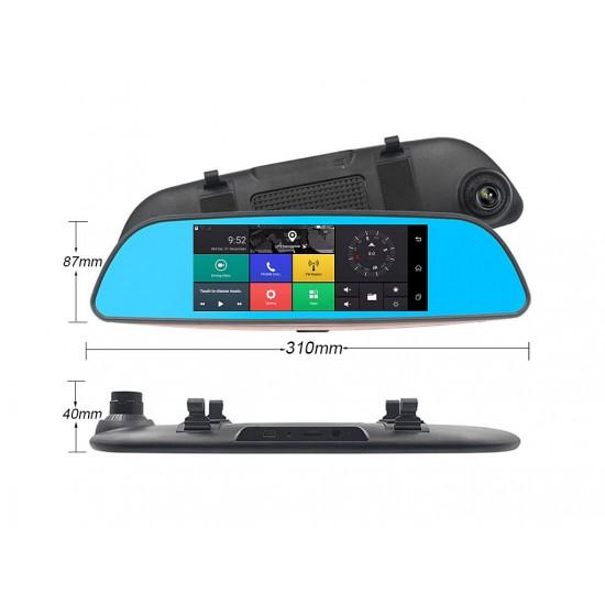 10 в 1 - ОГЛЕДАЛО + GPS + TABLET + DVR + FM + BT + WIFI +AV-IN + 2 Камери