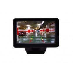 4.3-инчов TFT LCD монитор за връзка с камера за паркиране, DVD, VCR, CCTV с 2 видео входа